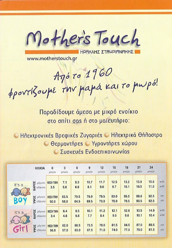 MOTHERS TOUCH | ΒΡΕΦΙΚΕΣ ΖΥΓΑΡΙΕΣ - ΘΗΛΑΣΤΡΑ | ΠΑΛΑΙΟ ΦΑΛΗΡΟ